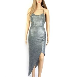 NWT BCBGeneration Gray Hi-Low Party Dress